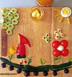 kırmızı başlıklı kahvaltı tabağı sunumu