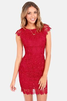 While you're dancing cheek to cheek with the creme de la creme, make sure you're looking the part in the Rubber Ducky Suite Life Backless Wine Red Lace Dress! Wine Red Dress, Wine Colored Dresses, Yes To The Dress, Trendy Tops, Cute Dresses, Party Dresses, Red Lace, Suite Life, Get Dressed