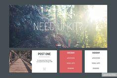 Free psd UI KIT / UI/UX / Yagiro - сайт о дизайне и для дизайнеров