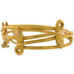 Victorian Snake Bracelet 18K & Diamond