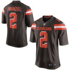 Men Cleveland Browns 2 Johnny Manziel Brown Elite Jersey
