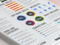 50 Inspiring Resume Designs: And What You Can Learn From Them – Design School