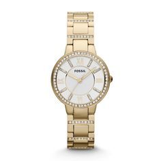 Montre pour femme : Virginia Three Hand Stainless Steel Watch Gold-Tone