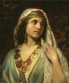 Claude Ferdinand Gaillard (1834 - 1887), Odalisca ou une femme orientale, Odalisca o donna orientale