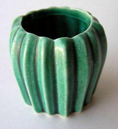 Miniature Green Art Pottery Vase Arizona by icondesign on Etsy, $9.99