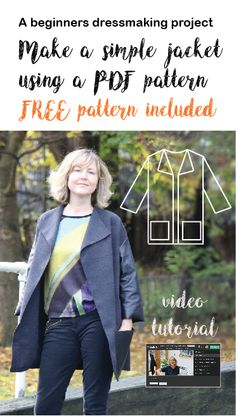 Video sewing tutorial - everything from downloading a PDF pattern, to choosing your fabric, cutting it out and putting it together.