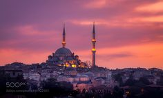 Fatih Mosque at sunset by MichaelDrakin #architecture #building #architexture #city #buildings #skyscraper #urban #design #minimal #cities #town #street #art #arts #architecturelovers #abstract #photooftheday #amazing #picoftheday