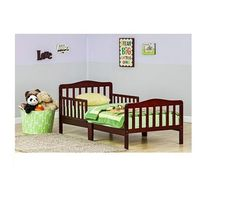 Bed Kids Cherry Wood Bedroom Furniture Classic Toddler Safe Dream On Me Safety #DreamOnMe