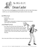 Extend the enjoyment of Roald Dahl's wonderful book, The B., by making a dream catcher in this fun activity. Bfg Roald Dahl, Roald Dahl Books, Bfg Activities, Reading Buddies, Fifth Grade, Third Grade, Summer Reading Program, 3rd Grade Reading, Author Studies
