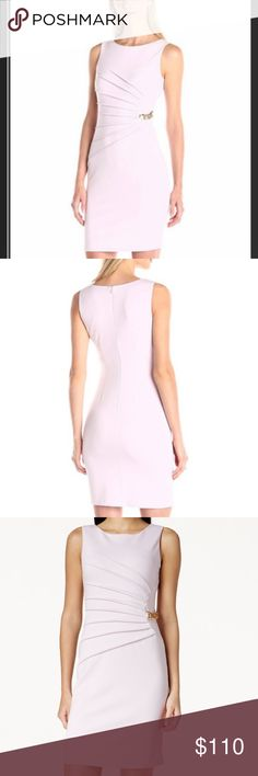 Ivanka Trump Ruched Ponte Knit Dress w Chain LILAC 💜Another Stunning Ivanka Dress💜💖💖This is...⭐️Ivanka Trump Ruched Ponte Knit Dress w Gold Chain. LILAC. BRAND NEW. NEVER WORN Msrp140+ ⭐️almost identical2my other listing but the colors slightly differ. the other has a zipper styling design on front side(see sep listing)while this has the small stylish chain. The Girls@work wanted2see it w the chain as well-so I got this one💌we agree we can't make up our minds💌I think a nude strappy…