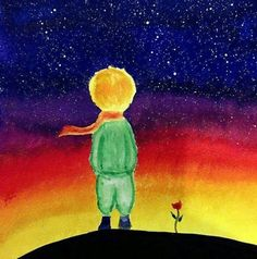 The Little Prince Sunset Pictures, Art Pictures, Arte Van Gogh, Kids Room Murals, Beginner Art, Oil Pastel Drawings, Beautiful Moon, The Little Prince, Art Plastique