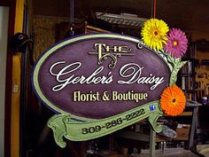 """This 48"""" x 32"""" 2-sided sign was created by CarveWright owner Doug Haffner."""