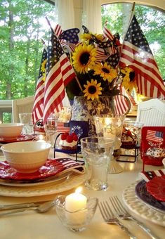 fourth of july decorations   4th of July Table Setting and Decorating Ideas