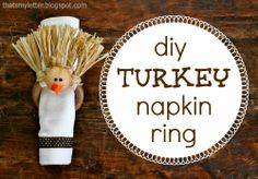 T is for Turkey Napkin Rings - Thats My Letter