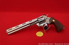 """Colt Python 38 Target 8"""" Nickel. Special Colt Custom Shop."""