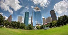 The Houston Skyline from Sam Houston Park by telwink, via Flickr