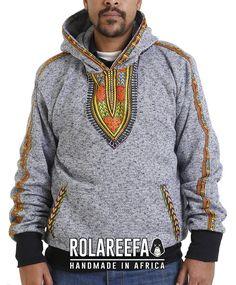 Items similar to Dashiki African Print Hoodie , Grey on Etsy African Inspired Fashion, African Print Fashion, African Fashion Dresses, African Attire, African Wear, African Dress, African Shirts, Dashiki Hoodie, Afro Men