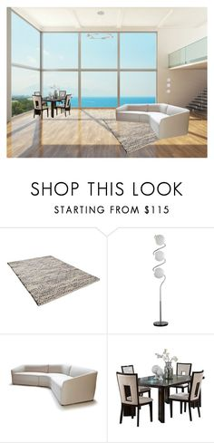 """""""Beach loft"""" by brooklynbeatz ❤ liked on Polyvore featuring interior, interiors, interior design, home, home decor, interior decorating, TOM TAILOR, Steve Silver, Modern Forms and Minimalist"""