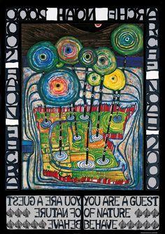 Hundertwasser original poster ARCHE NOAH
