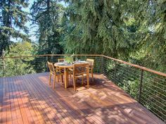 wire deck railing - Mercer Island Residence 05 - contemporary - deck - seattle - knowles ps
