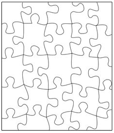 Theme unit on pinterest puzzle pieces puzzles and word for Puzzle cut out template