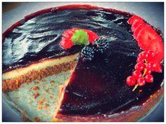 tofucake ai frutti rossi con gelè di more