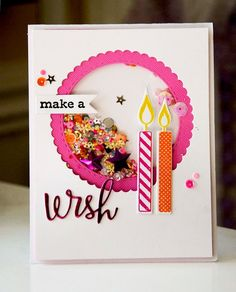 Shakers are all the rage! Love this stunning shaker birthday card!
