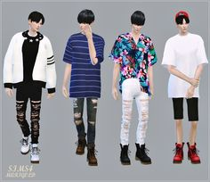 Male_Combat Boots_워커_남성 신발 - SIMS4 marigold