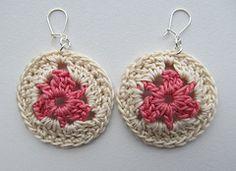 Crochet Earrings free pattern.