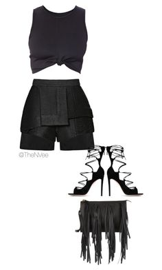 """""""N"""" by theninavee ❤ liked on Polyvore featuring E L L E R Y, Gianvito Rossi and Marni"""