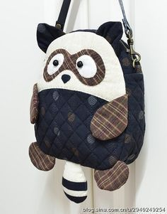super cute bag from China Patchwork Bags, Quilted Bag, Bag Quilt, Animal Bag, Diy Backpack, Back Bag, Simple Bags, Denim Bag, Fabric Bags