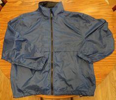 Eddie Bauer EBTEK Men's M Blue Windbreaker Jacket w/Hidden Hood LN Free Shipping #EddieBauerEBTEK #Windbreaker