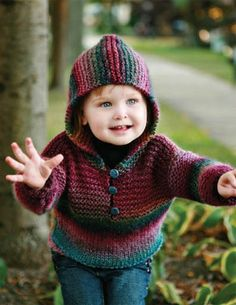 Knit kit - childs multi coloured hoodie
