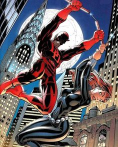 Daredevil and Black Widow Art by J Scott Campbell Comic Book Characters, Comic Book Heroes, Comic Character, Comic Books Art, All Marvel Characters, Book Art, Ms Marvel, Marvel Heroes, Punisher Marvel