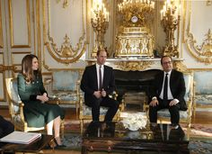French President Francois Hollande accompanies Britain's Catherine the Duchess of Cambridge and Prince William as they visit the gardens during a meeting at the Elysee Palace in Paris, France, March 17, 2017. REUTERS/Thibault Camus/Pool via @AOL_Lifestyle Read more: https://www.aol.com/article/lifestyle/2017/03/17/kate-middleton-sequined-blue-gown-paris/21901898/?a_dgi=aolshare_pinterest#fullscreen