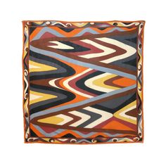 Vintage EMILIO PUCCI 1970'S Abstract geometric silk scarf