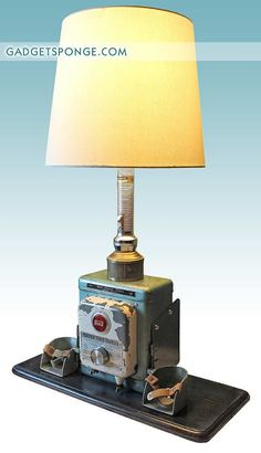 Repurposed Vintage Sears Electric Fence Charger Box Lamp