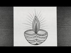 Diya Pencil Drawing || How To Draw Diya With Pencil || Easy Diya Drawing || Pencil Drawing Easy - YouTube