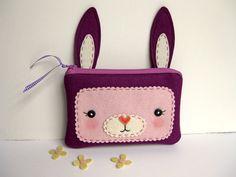 Ciruela conejo bolsa de la cremallera