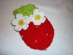 Crochet Baby Mittens Strawberry Baby Mittens Newborn by Anishop, $9.50