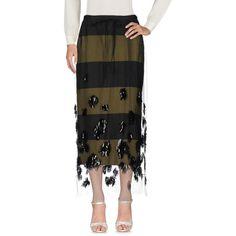 Dries Van Noten Long Skirt ($510) ❤ liked on Polyvore featuring skirts, black, zip skirt, stripe maxi skirt, ankle length skirts, sequin maxi skirt and stripe long skirt