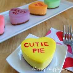 cheesecake conversation hearts