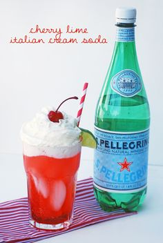 Cherry Lime Italian Cream Soda