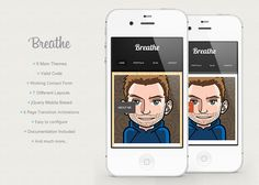 Breathe - HTML5 jQuery Mobile Based Template