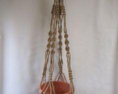 DRAGONFLY Macrame Plant Hanger Holder Jute Made in by JoanDougArt