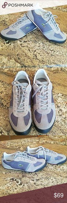 price drop⬇Lacoste men's sneaker Lacoste gray/bluish color size 10 1/2 Lacoste Shoes Sneakers