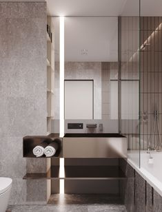 Apartment in onyx colours #minimalistbathroom