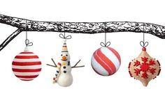 Express your seasonal style with one of three ornament trends