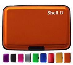 RFID Aluminum Wallet Credit Card Holder- Prevent Electronic Credit Card Scan Theft - Cool Slim Design for Men & Women - 100% Money Back Guarantee Shell-D http://www.amazon.com/dp/B00JWJS1GK/ref=cm_sw_r_pi_dp_-z5uvb1QNZEMA