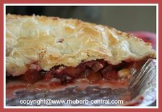 Recipe for a pie using FROZEN RHUBARB and FRESH or FROZEN STRAWBERRIES - sooo good!!